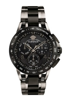 Versace Men's 45mm Sport Tech Chronograph Watch  Black/Gray