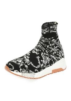 Versace Men's Baroque Knit Sock Sneakers