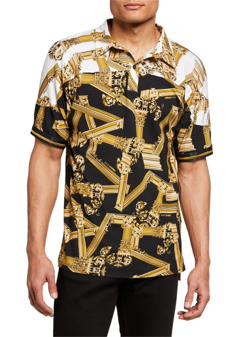 Versace Men's Baroque Polo Shirt
