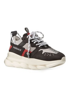 Versace Men's Chain Reaction Chunky Greek Key Sneakers