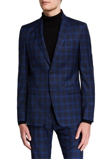 Versace Men's Checkered Wool Two-Piece Suit