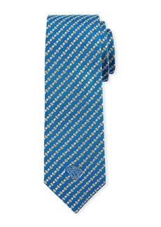 Versace Men's Diamond-Striped Silk Tie
