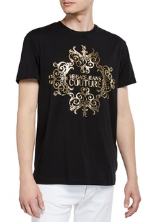 Versace Men's Foil Baroque Logo T-Shirt
