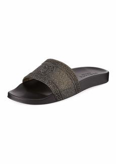 Versace Men's Glitter Shower Slide Sandals