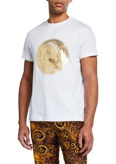 Versace Men's Golden Logo Medallion T-Shirt