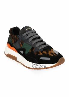Versace Men's Leopard Runner Sneaker