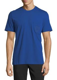 Versace Men's Logo-Embroidered Pocket T-Shirt