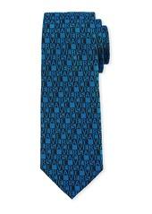Versace Men's Logo-Grid Silk Tie