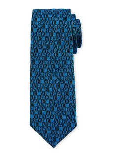 Versace Men's Logo-Grid Silk Tie