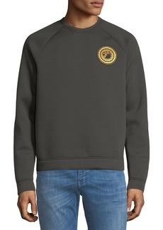 Versace Men's Logo Patch Sweatshirt