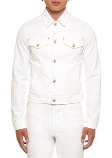 Versace Men's Long Sleeve Jean Jacket