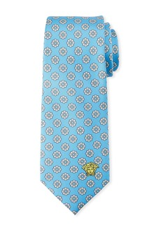 Versace Men's Medallion-Jacquard Silk Tie