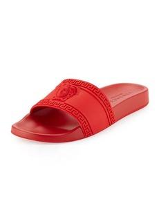 4260f9b67bec Versace Men s Medusa   Greek Key Shower Slide Sandals