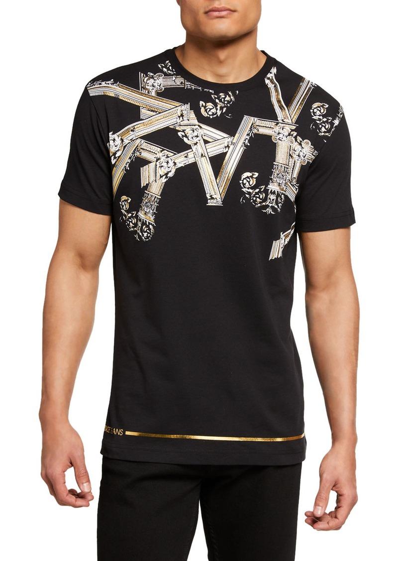 Versace Men's Metallic Baroque Crewneck T-Shirt