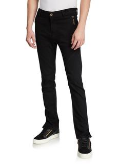 Versace Men's Skinny Moto Biker Jeans