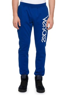 Versace Men's Sportivo Logo-Graphic Track Pants