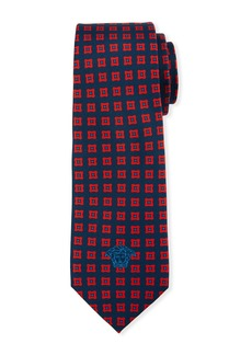 Versace Men's Square-Jacquard Silk Tie