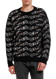 Versace Men's Sunglasses-Print Cotton Sweater