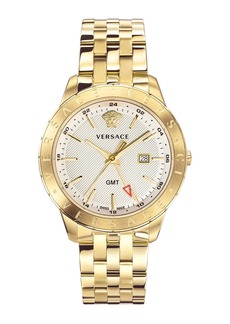 Versace Men's Univers 43mm Watch w/ Bracelet Strap