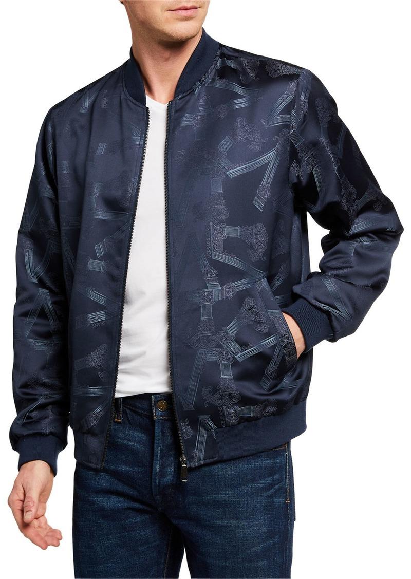Versace Men's V Logo Bomber Jacket