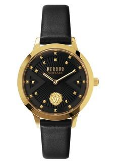 Women's Versus Versace Palos Verdes Leather Strap Watch