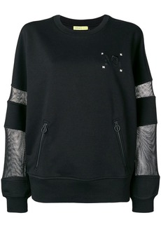 Versace mesh-panel long sleeve sweatshirt
