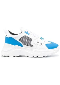 Versace mesh-panelled chunky sneakers