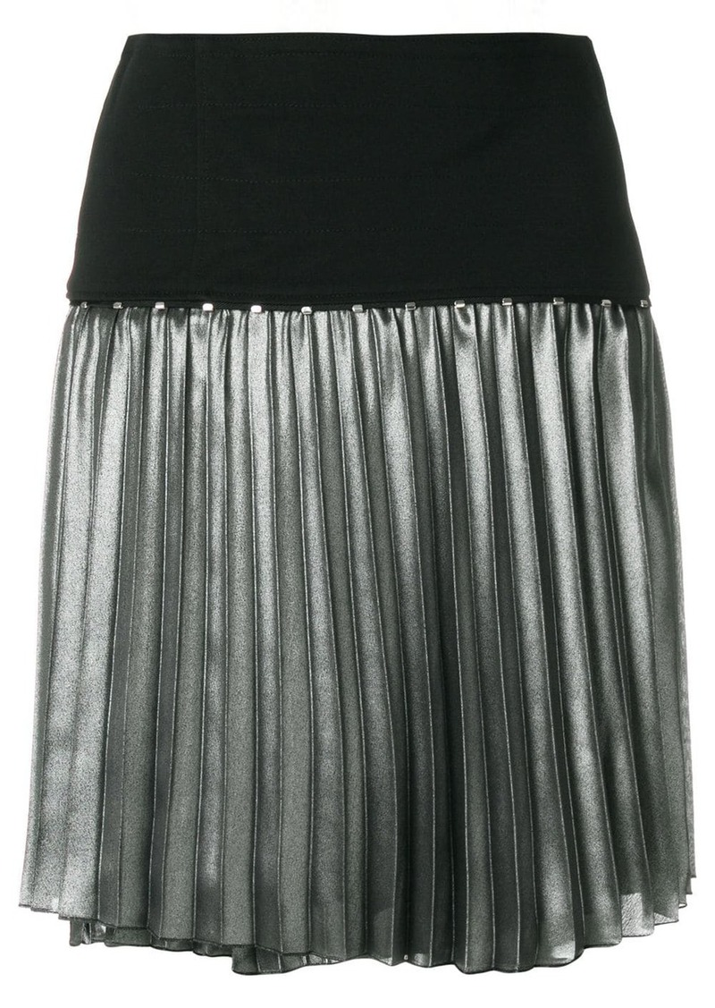 Versace metallic pleat skirt