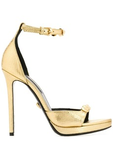 Versace metallic snakeskin-effect pumps