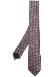 Versace micro Medusa print tie