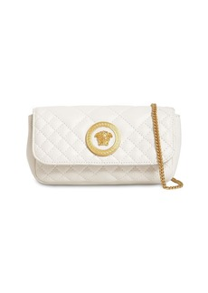 Versace Mini Icon Quilted Leather Shoulder Bag