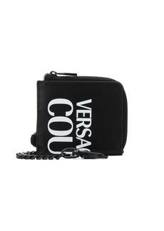 Versace mini logo print wallet
