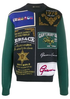 Versace mixed patterned jumper