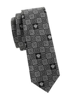 Versace Mixed-Print Silk Tie