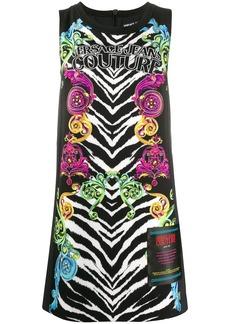 Versace mixed-print sleeveless dress