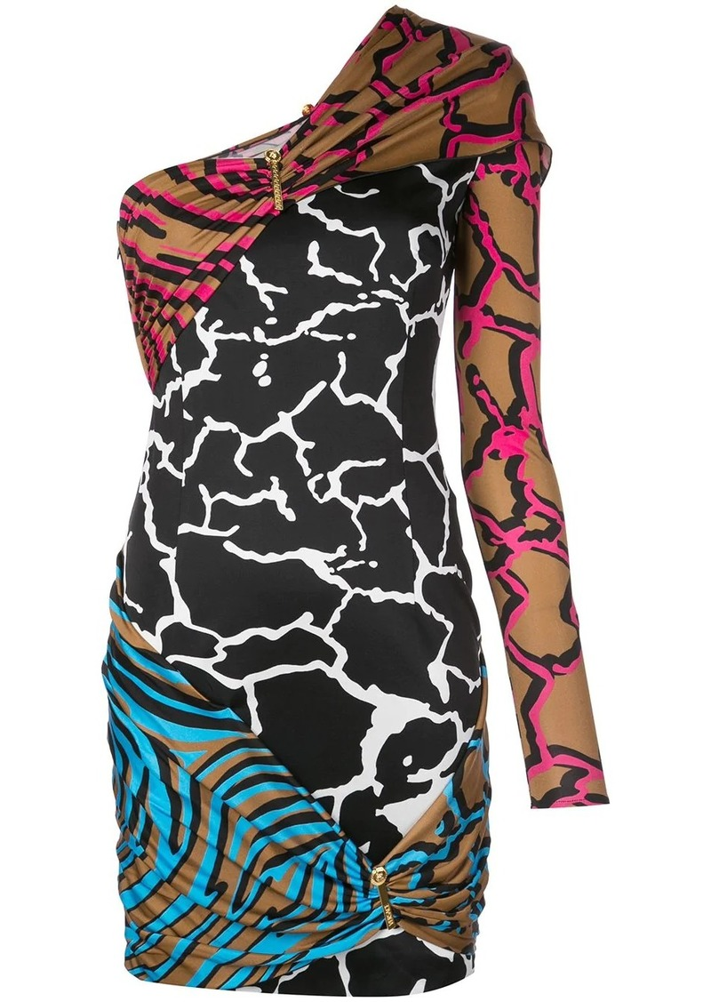 Versace mixed printed dress