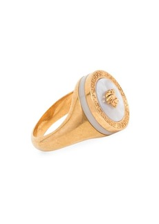 Versace Mother Of Pearl Medusa Ring