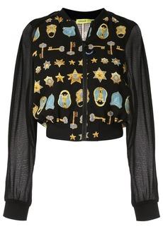 Versace multi-logo print bomber jacket