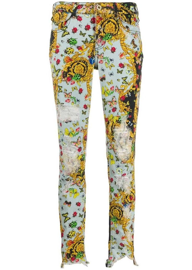 Versace multi-print baroque skinny jeans