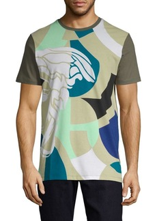 Versace Multicolor Abstract-Print Cotton Tee