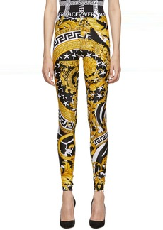 Versace Multicolor Heritage Stamp Leggings