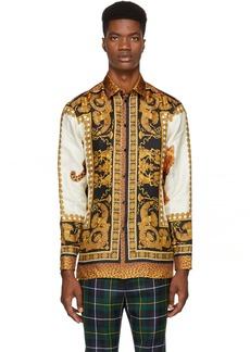 Versace Multicolor Silk Animal Shirt