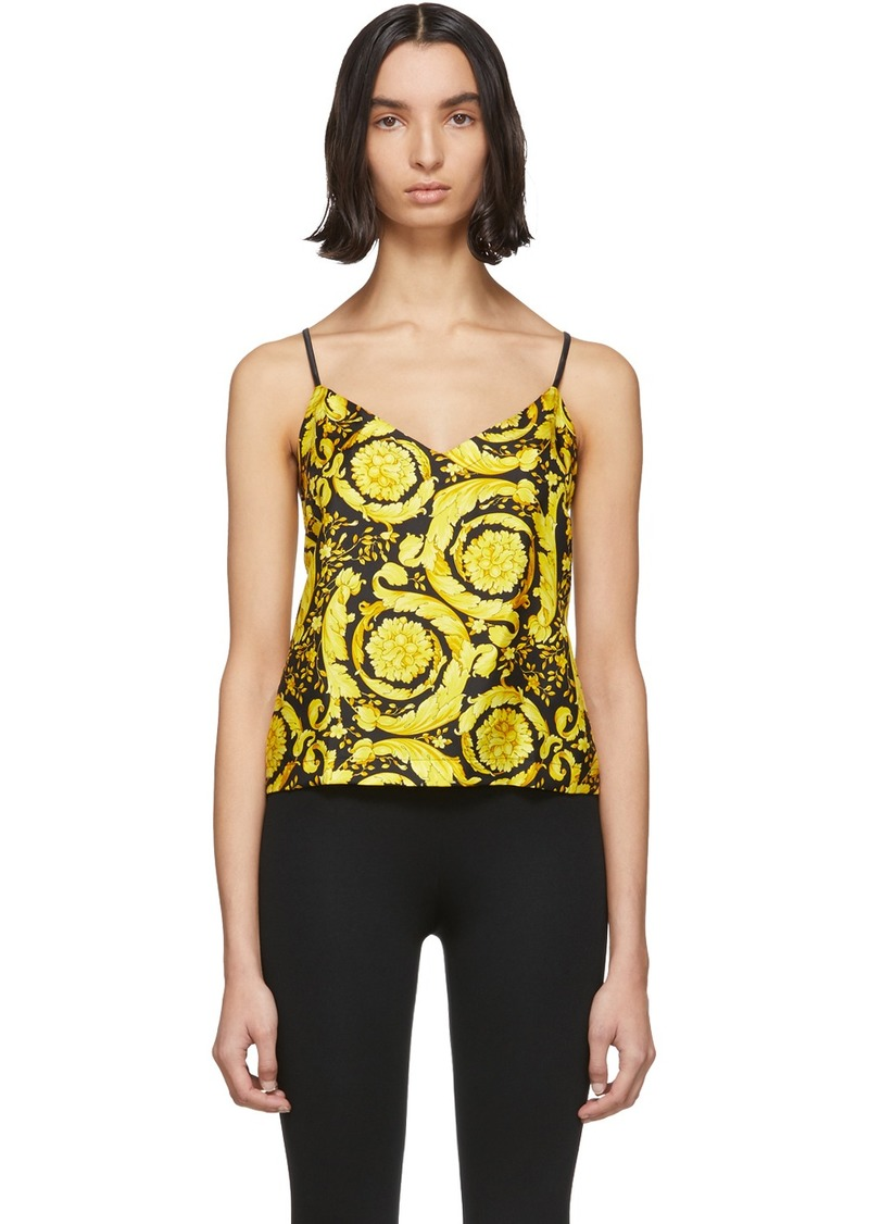 Versace Multicolor Silk Baroque Tank Top