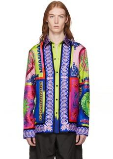 Versace Multicolor Silk Medusa Shirt