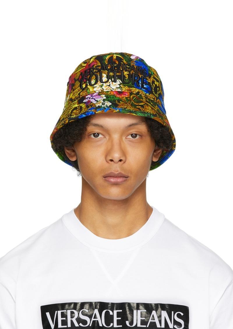 Versace Multicolor Tropical Jungle Baroque Bucket Hat