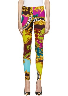 Versace Multicolor Voyage Barocco Leggings