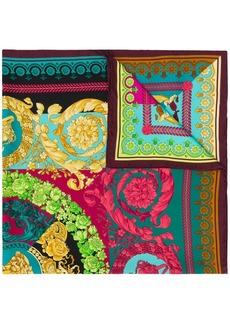 Versace multicoloured Barocco print scarf