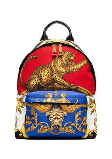 Versace multicoloured baroque printed backpack