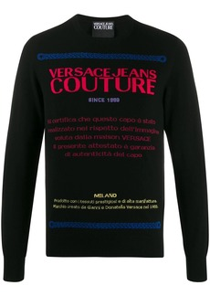 Versace neon jacquard jumper