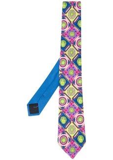 Versace neon Medusa print tie